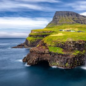 Sometimes the nature works wonders, and this is such a place, the magnificent Gásadalur in the Faroe Islands..