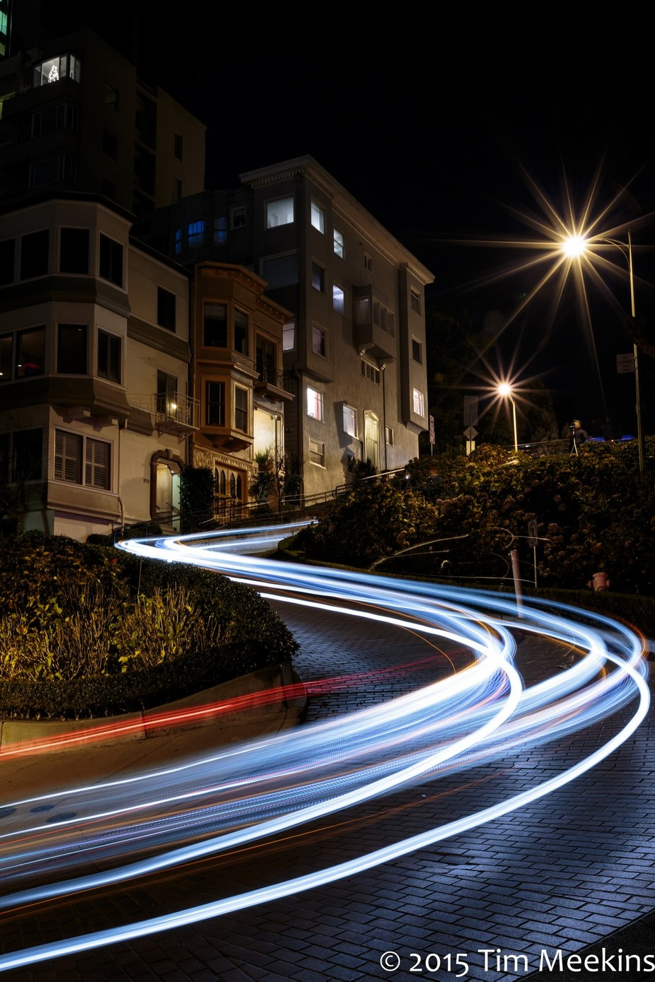Lombard at Night by timmeekins - Composing with Curves Photo Contest