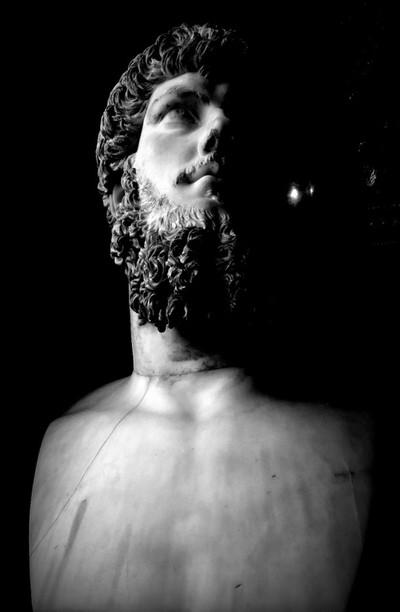 The statue of Hercules