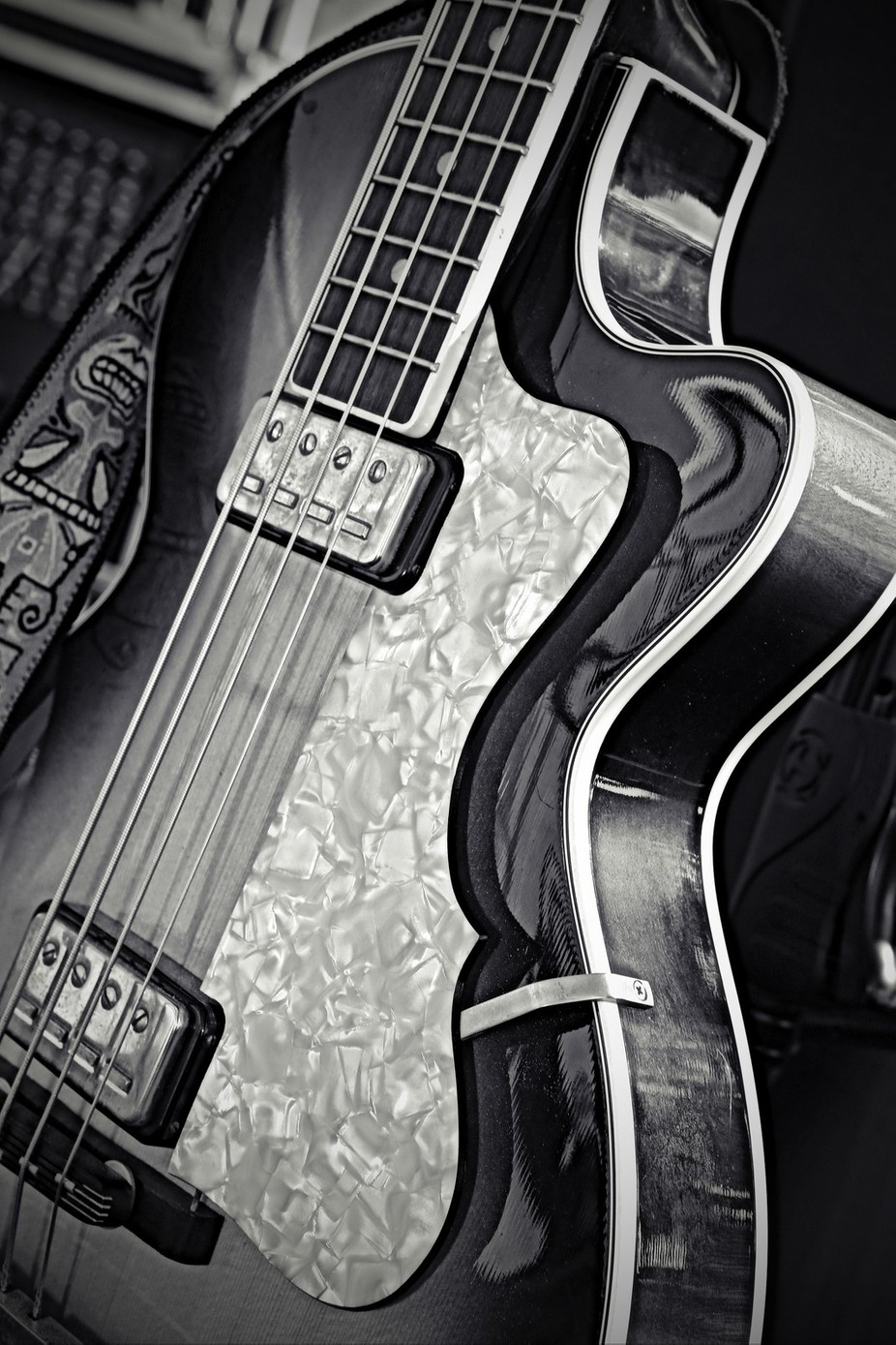 Guitar....Black & White by Alana1971 - Musical Instruments Photo Contest