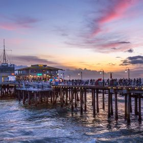 Dusk brings out wonderful colors at the Santa Monica Pier
