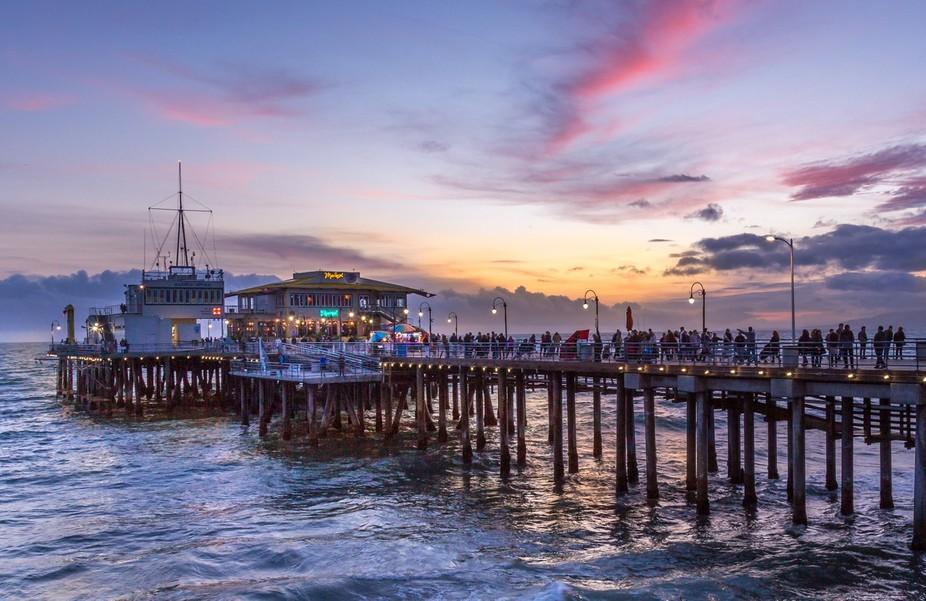 Dusk brings out wonderful colors at the Santa Monica Pier