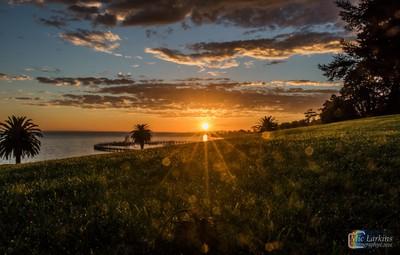 Eastern Beach Geelong With Sun Flare