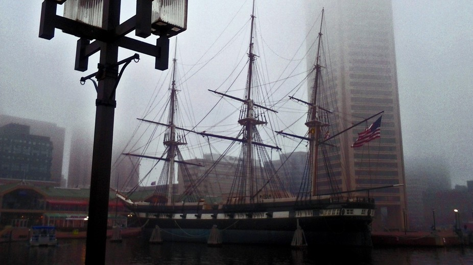 This is the USS Constellation in Baltimore's Inner Harbor.