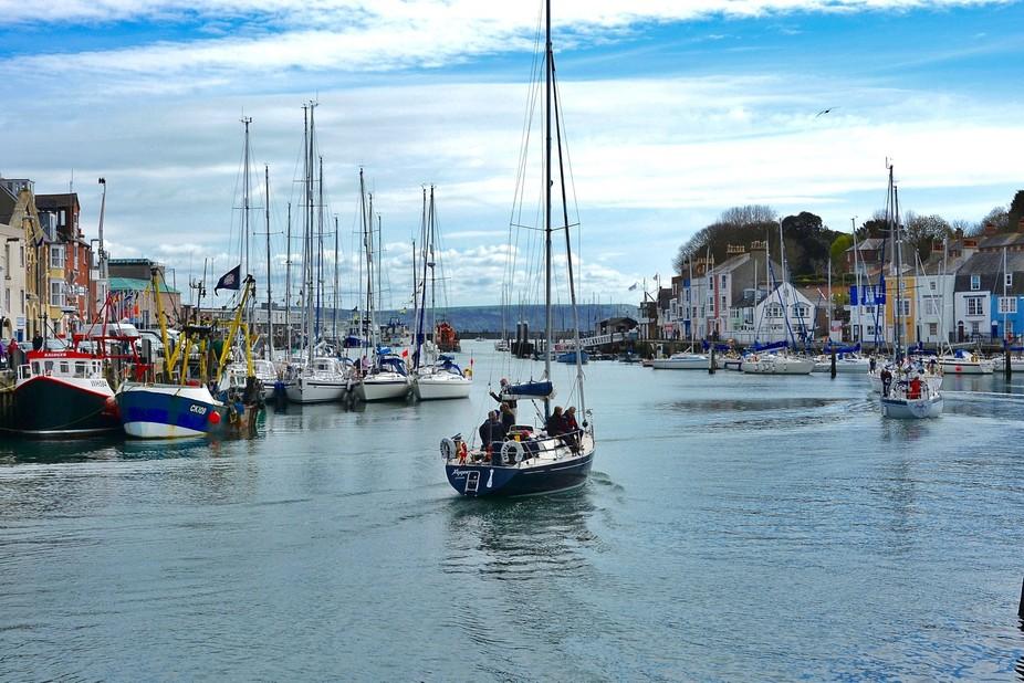 Popular sailing harbour