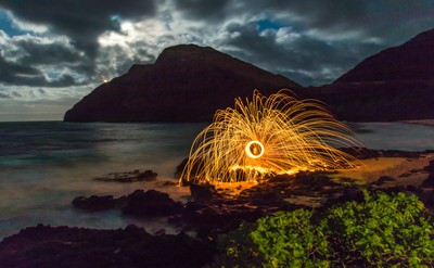 Makapu Point Light Painting