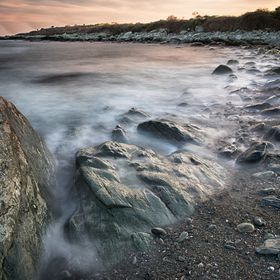 A 30 second exposure along the shore of Sachuest Point National Wildlife Refuge