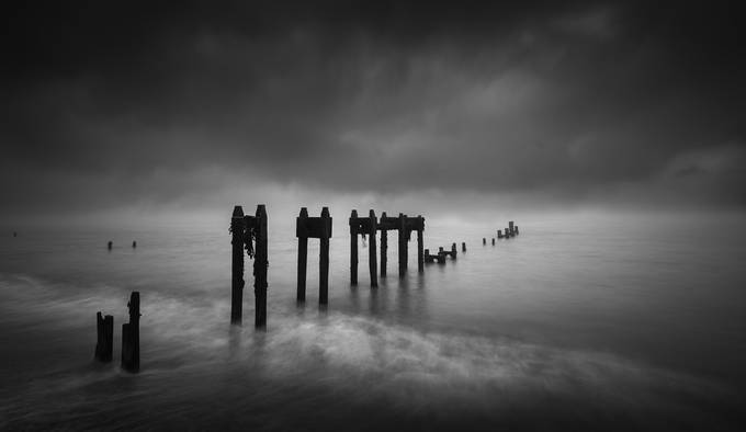 Bawdsey mist by Dickiebird - The Water In Black And White Photo Contest