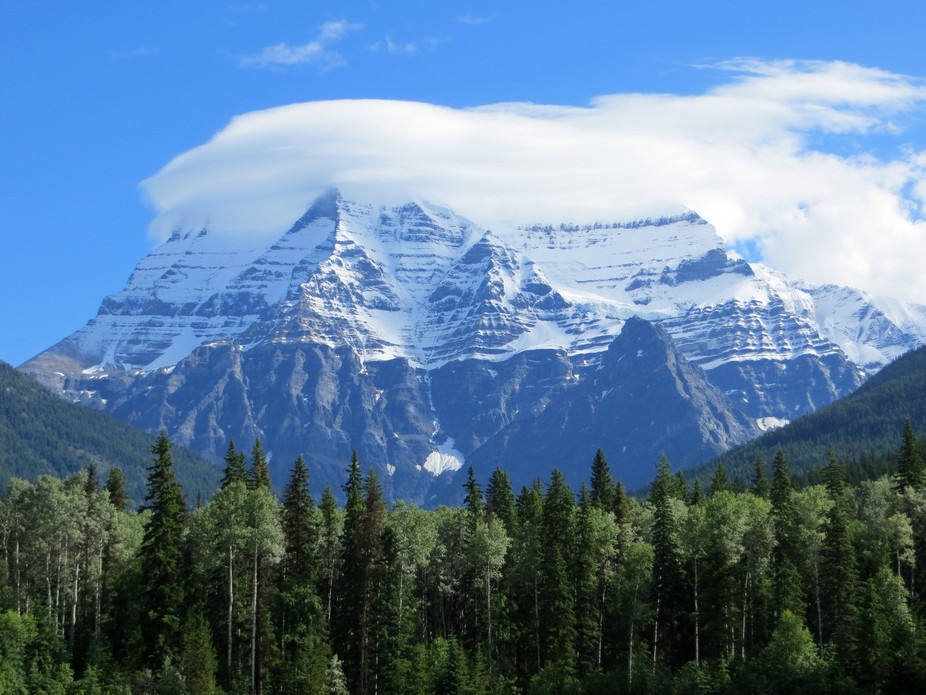 This is Mt Robson on a good day!