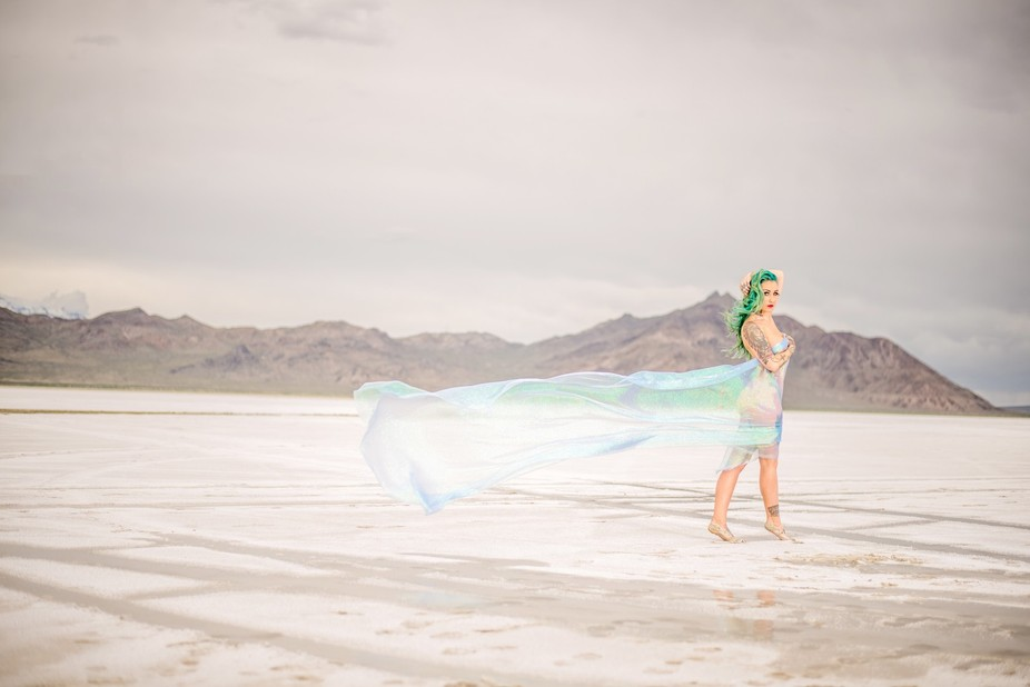 shot on a cold windy day at the salt flats in utah