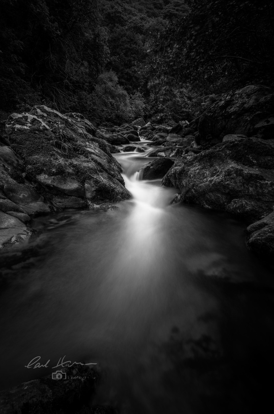 'River Lyn' by carlhudson - A Black And White World Photo Contest