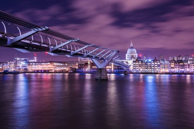Millennium Bridge & St Pauls Cathedral London