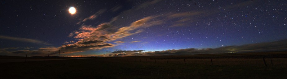 The Clouds prevented the brilliant colors one normally associates with the northern lights, but t...