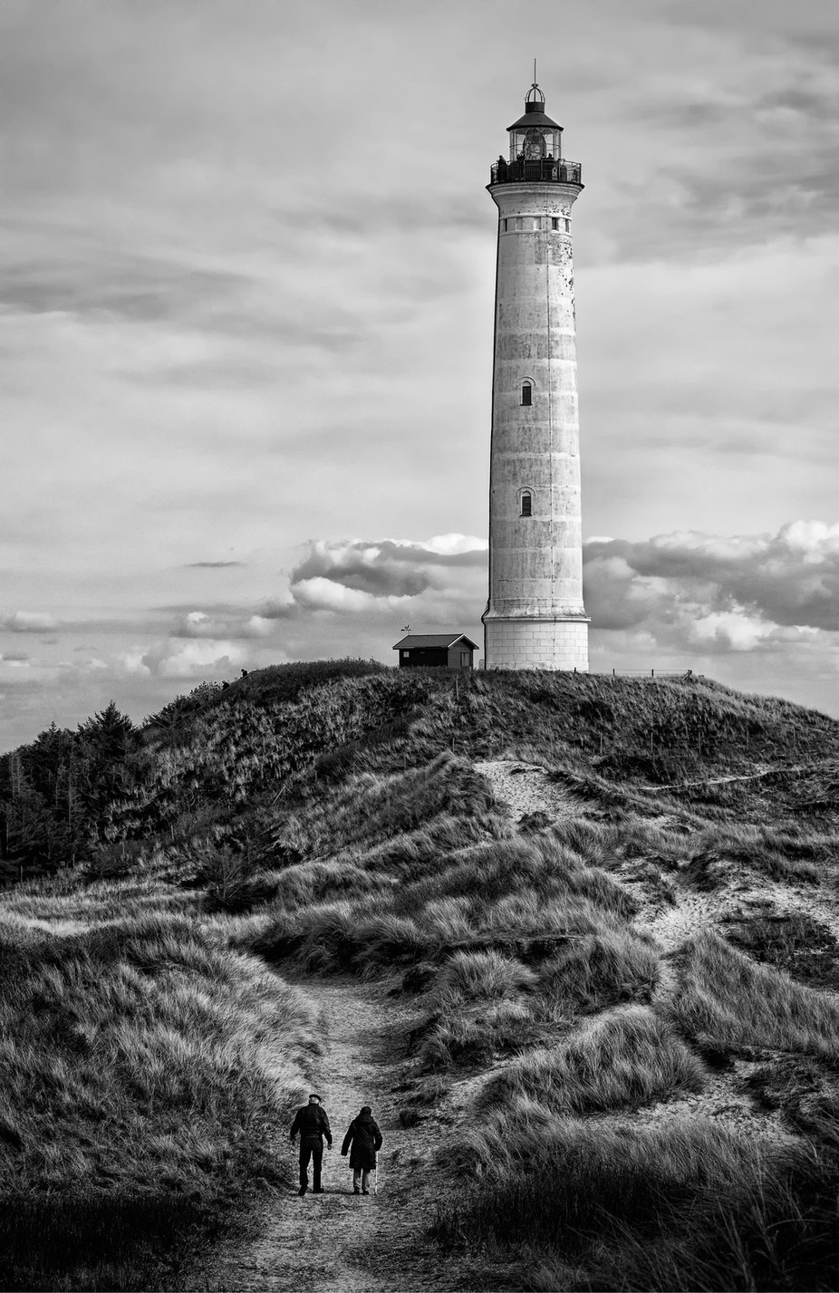 The Lighthouse Trail by inge_vautrin - Landscapes In Black And White Photo Contest