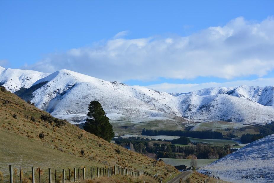 Snow near Amberley NZ, South Island