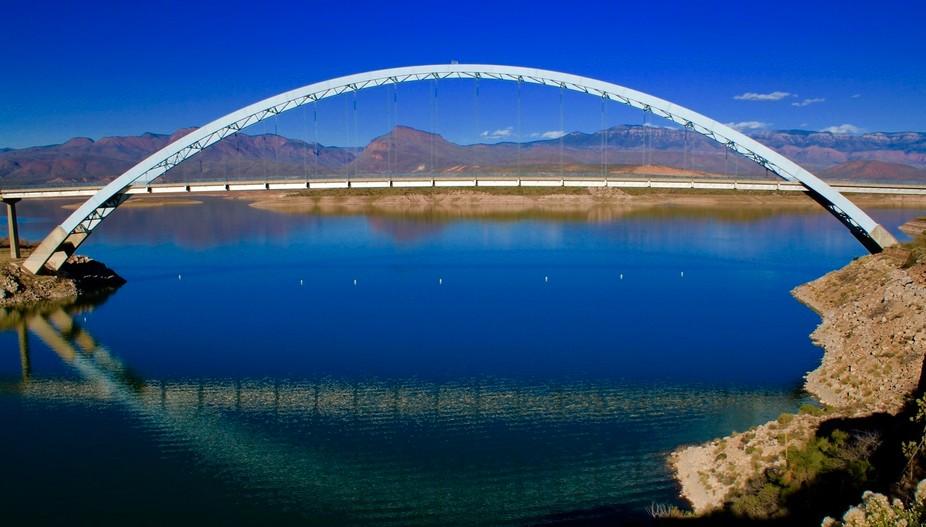 On the Salt River near the Roosevelt Dam in Arizona