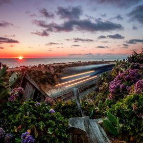 Secret beachside trails. In one spot of the trails is a secret lush garden. With a place to sit and watch the sunset. At this moment as the sun h...
