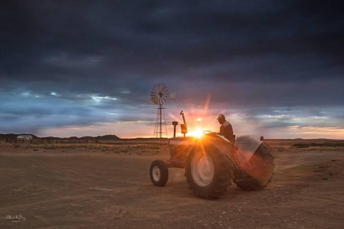 Karoo Sunset by rudievanderberg - Farms And Barns Photo Contest