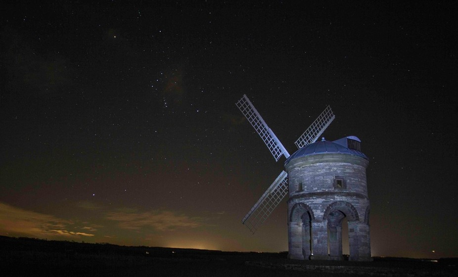 Chesterton Mill Warwickshire and Orion on clear night