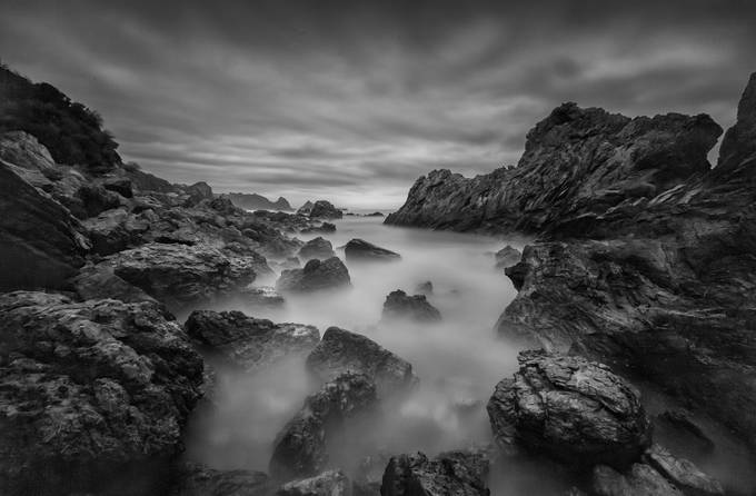 Black Stone Beach by TonyLaw - Black And White Landscapes Photo Contest