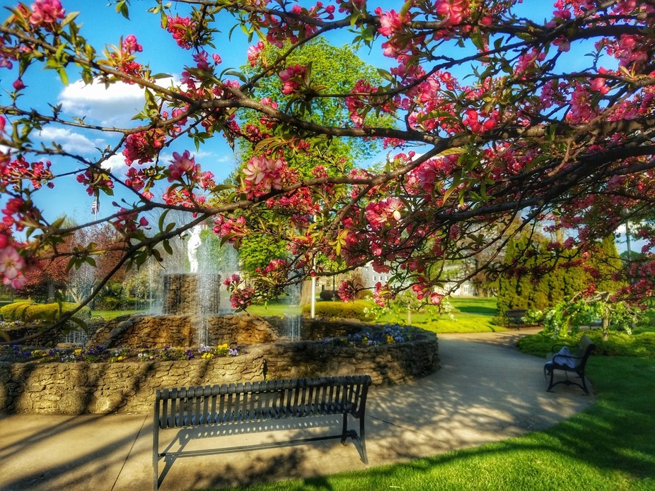 Beautiful, spring day in downtown Sandusky, Ohio.