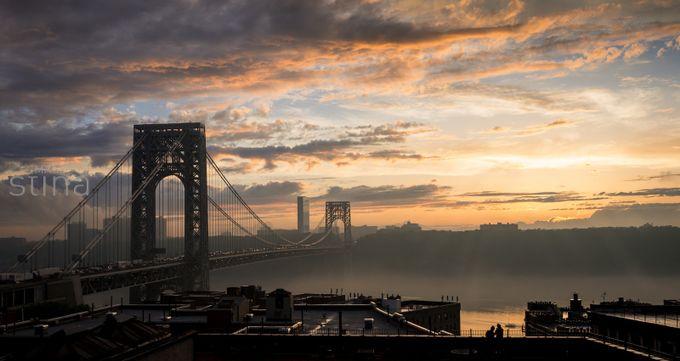 Sky over George Washington Bridge by ImagesbyStina - My City Photo Contest