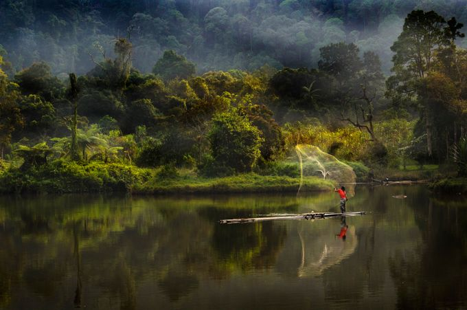 Pagi d situ by raungbinaia - Lakes And Reflections Photo Contest