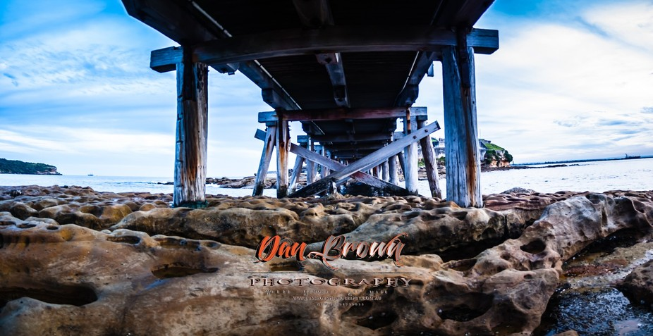 under the bare island bridge. Bare island is a wartime fort to help defend port botany during the...