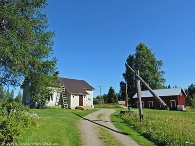 Old Finnish country house on a summer day