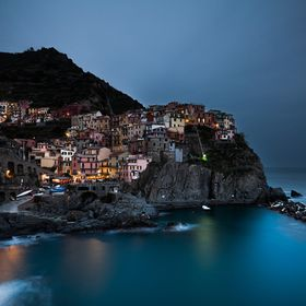 Twilight setting over Manarola on a nice and quiet evening.