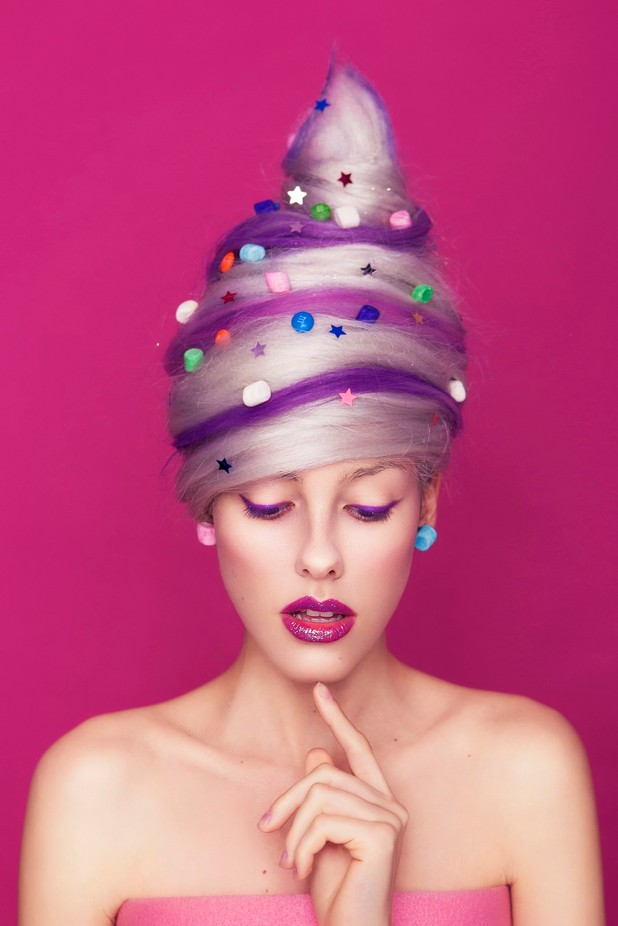 Candy-floss woman by AnnaDemy - Her In The Studio Photo Contest