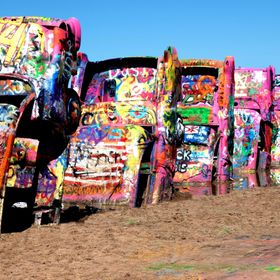 Cadillac Ranch on Route 66 - Checked it off my photography bucket list this summer.  Cadillac Ranch is a public art installation and sculpture i...
