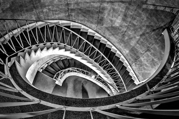 Stairway at the museum by leonhugo - Composing with Curves Photo Contest