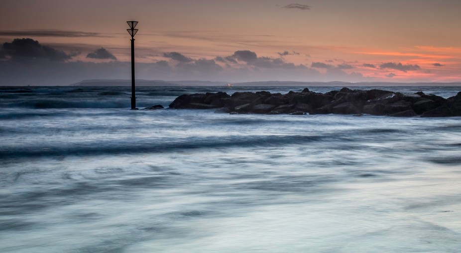 Taken on a trip to one of my favourite local spots, sunset with a 4 stop ND filter to smooth out ...
