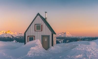 Brew Hut at Sunset
