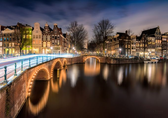 Canals of Amsterdam at Night by mathewbrowne - City In The Night Photo Contest