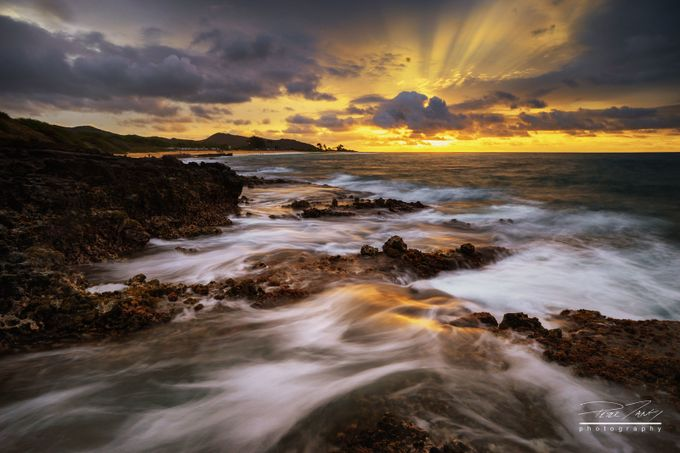 Rock Shore Sunrise by petertang - Layered Compositions Photo Contest