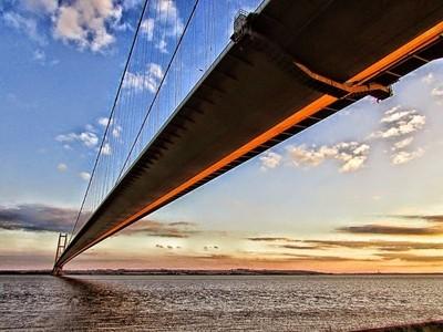 The Humber Bridge East Yorkshire.