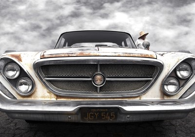 Chrysler 300 and Straw Hat Man