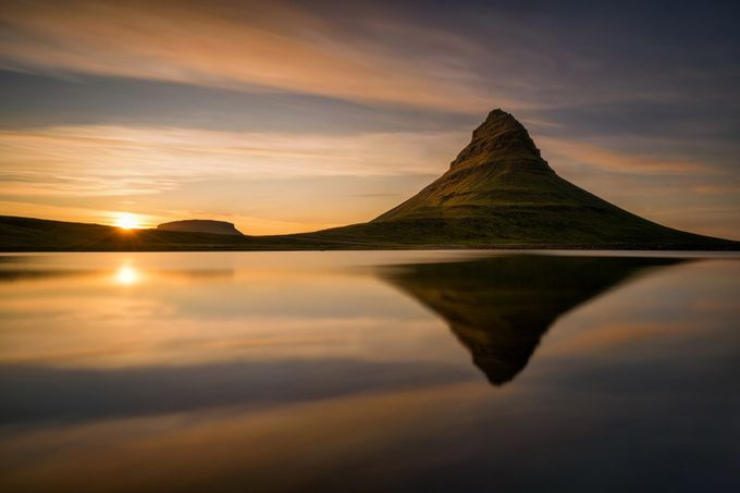 Kirkjufell reflections by strOOp - Composing with Negative Space Photo Contest