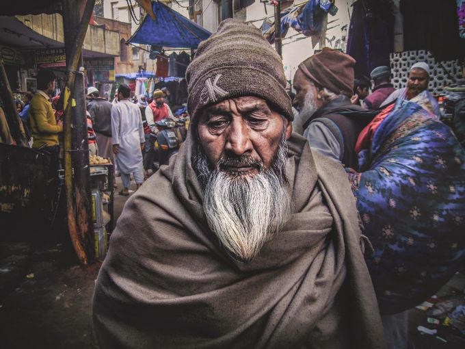 Old muslim, Delhi by IdreesMohammed - Street Portraits Photo Contest