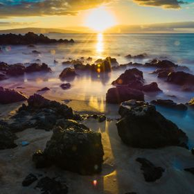 A magical moment on a small beach, Maui, HI.