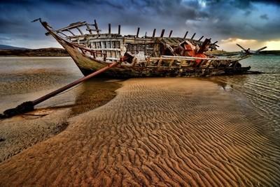 drama on a sandbank