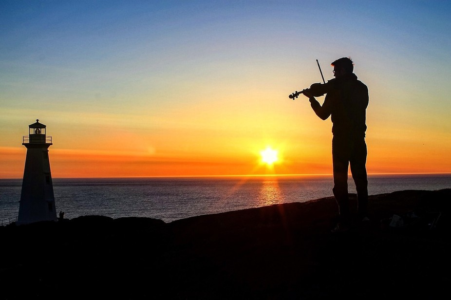 Taken at Cape Spear, Newfoundland- the most easterly point in North America; 5:17 AM