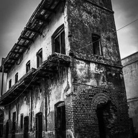an old structure at Manikgonj near Dhaka, the capital of Bangladesh.....