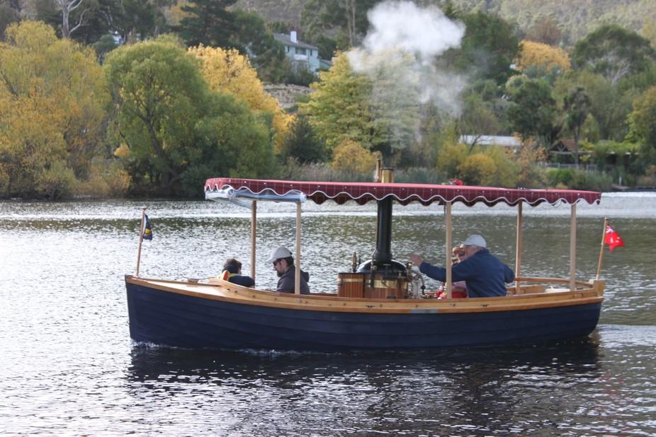 Steam Boat Leprena New Norfolk, during the Derwent Valley Autumn Fest.