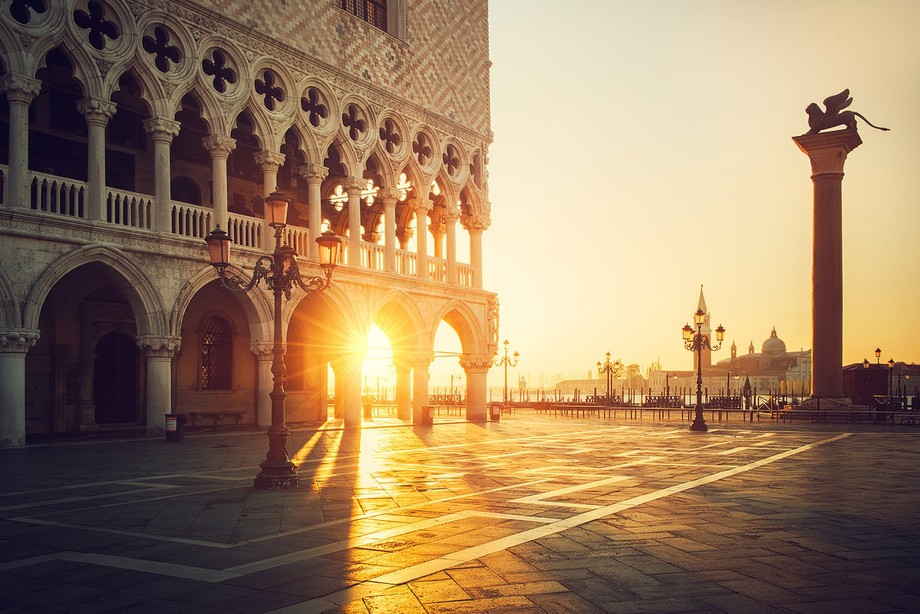 Golden morning in Venice