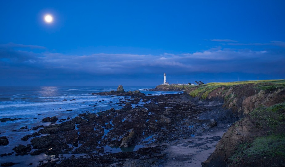 """This is Pigeon Point Lighthouse on the San Mateo Coast in CA. This was my """"great white w..."""