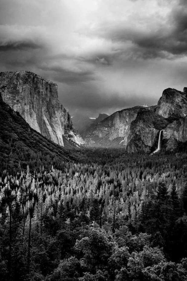 Yosemite Valley by JStokkaDesign - Landscapes In Black And White Photo Contest