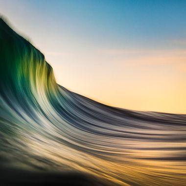 The ocean interpreted into art.